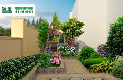 郑州迎宾3号别墅花园设计效果图