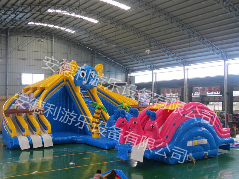 郑州恐龙充气滑梯前期准备