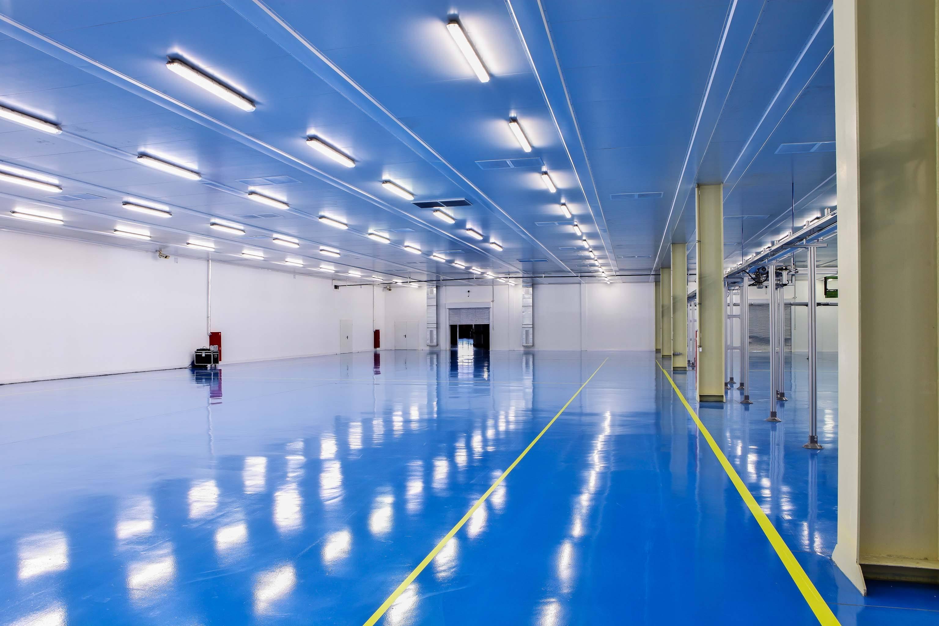 高效服务生产基地环氧地坪漆地面